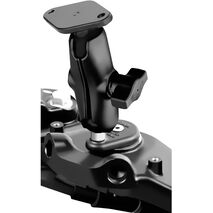 RAM Fork Stem Motorcycle Base with Short Double Socket Arm and Diamond Base Adapter RAM-B-176U-S