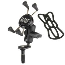 RAM-B-176-A-UN7 - RAM Fork Stem Mount with Short Double Socket Arm & Universal X-Grip® Cell/iPhone Cradle