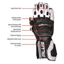 Predator Kangaroo/Cowhide Leather Gloves - White