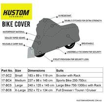 Kustom Hardware Bike Cover X-Large - Dresser / Tourer / Cruiser