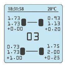 Prisma Electronics Tyre pressure gauge + Pyrometer Infrared + Stopwatch HPM4 + PYR2-IR + STW
