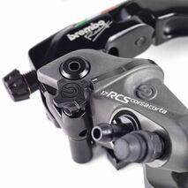 Brembo 17RCS Corsa Corta Radial Master Brake Cylinder - 110C74040 + White Reservoir Kit 110A26385