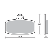 Front Brake Pads for Ohvale - Sintered