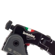 Radial Brake Master Cylinder Brembo 19RCS, Fold-Up Lever 18-20 Ratio, Switch Stop for two disk Brake Systems - 110A26310