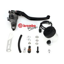 Radial Brake Master Cylinder Brembo 19RCS, Fold-Up Lever 110A26310 and Reservoir Kit 110A26385