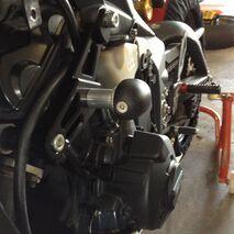 GBRacing Crash Protection Set (Race/8mm) Triumph Daytona 675 Street Triple R