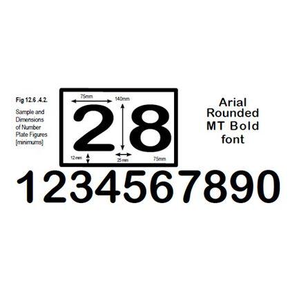 Motorcycle Race Numbers - All Colours [Matt Black, Matt White & Mid-Blue]