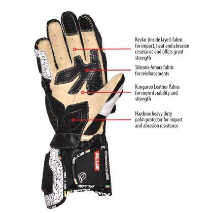 Predator Kangaroo/Cowhide Leather Gloves - Blue
