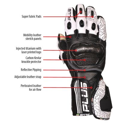 Predator Kangaroo/Cowhide Leather Gloves - Black