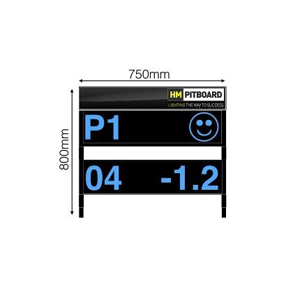 HM Digital Motorcycle Pit Board - 2 Level LED Display
