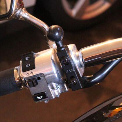 "Motorcycle Brake/Clutch Base Bar 25mm (1"") Ball - RAM-B-309-1U"