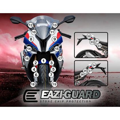 Eazi-Guard Stone Chip Paint Protection Film for BMW S1000RR 2019+