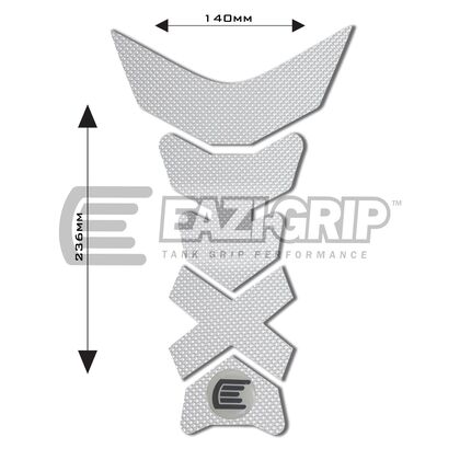 Eazi-Grip PRO Centre Tank Pad C 140mm x 236mm, Clear or Black