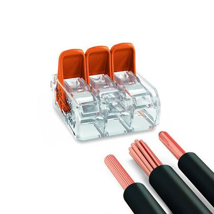 Wago Splicing Connectors for All Conductor Types, 5 Pole Connector 221-415
