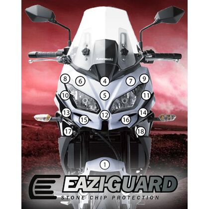 Eazi-Guard Stone Chip Paint Protection Film for Kawasaki Versys 650
