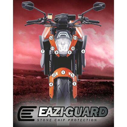 Eazi-Guard Stone Chip Paint Protection Film for KTM 1290 Super Duke R