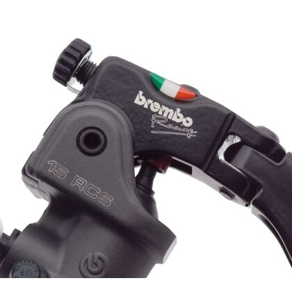 Brembo 15RCS Radial Brake Master Cylinder Fold-Up Short Lever 18-20 Ratio, Switch Stop [No Reservoir] - 110A26320