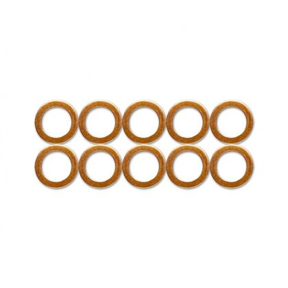 """HEL Copper Crush Washers - 10mm (Suits M10, 3/8"""" and 1/8"""") 10 Pack"""
