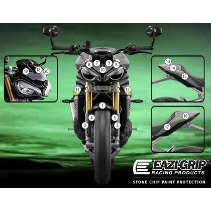 Eazi-Guard Paint Protection Film for Triumph Speed Triple 1200 RS  gloss